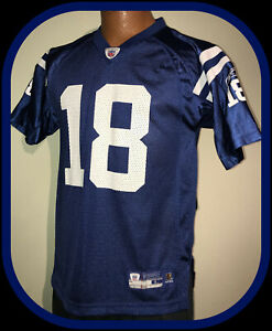 INDIANAPOLIS COLTS PEYTON MANNING REEBOK ON FIELD REPLICA JERSEY YOUTH LG 14-16