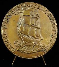 Médaille 1952 Banque d'Anvers Bank Antwerpen Belgique België Arthur Dupon medal