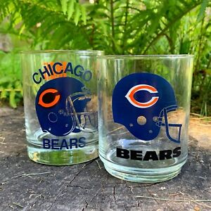 'CHICAGO BEARS 1985 NFL GLASS SET OF 2' mug - 5 dollar mugs (5dms) ($5 mugs)