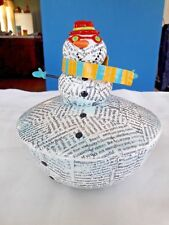Nancy Wolff  Silvestri Christmas SNOWMAN Canister with lid
