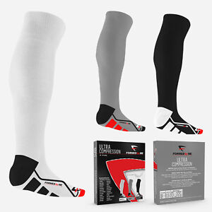 3 Pairs of Premium Ultra Compression Socks for Men and Women 20-30 mmHg