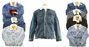 Levi's Trucker Jean Jacket Snap Front Fleece Sherpa Lined Levi Strauss $98