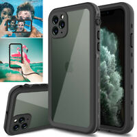 For iPhone 11/12 Pro Max/Mini/XS Max/XR/X/XS Case Waterproof w/Screen Protector
