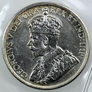 CANADA: King George V 1936 Silver Dollar ; ICCS MS-63.