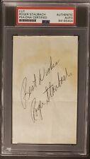 Roger Staubach Vintage Signed cut PSA/DNA Slabbed 3X5 *Rookie Era* AUTO Cowboys
