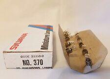 Box of 10 Sylvania 370 S370 GE370 Miniature Midget Lamps Light Bulbs 33358-0