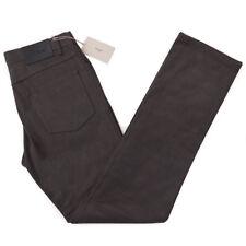 NWT $650 BRIONI 'Stelvio' Gray Soft Woven Twill Cotton Jeans 34 Pants