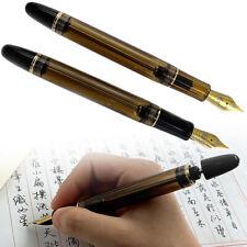 2019 Wing Sung 699 Vaccum Filling Fountain Pen Fine Nib Brown / Translucent US