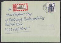 BRD, Einschreiben MiNr. 1407 EF TSt Markt Schwaben