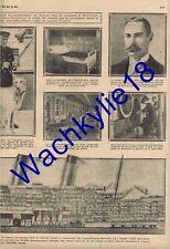 Le miroir n°4 du 21/04/1912 Naufrage Titanic Clipping Poincaré Maroc
