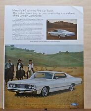 1967 magazine ad for Mercury - 1968 Park Lane with swept-back roof, Fine Car