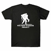 Wounded Warrior Project Graphic Mens T-Shirt Black Cotton Design Tee Shirt Fu...