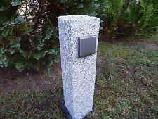 Edelstahl Granit Außensteckdose Energiesäule für Weihnachtsbeleuchtung zB.