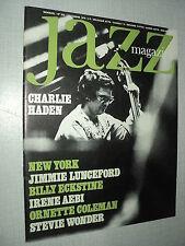 JAZZ  MAGAZINE 250 (12/76) CHARLIE HADEN STEVIE WONDER BILLY ECKSTINE ELLINGTON