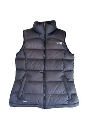 The North Face Gilet Nuptse 700 Black Brown Vest Down Goose Feather Size Small