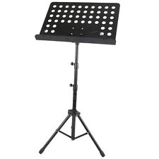 More details for portable height adjustable orchestral musical book paper holder tripod stand