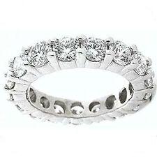 13 x 0.45 ct, F-G Si1 any sz 5.95 ct Round Diamond Eternity Ring Platinum Band