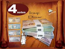 4 Notes, Iraqi Dinar; 1000x1, 500x1, 250x1 & 50x1;   - Nice Collectable Set! -