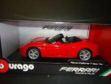 Bburago Ferrari California Opened Top Red 1/18