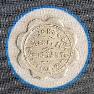 Gascho & Son General Merchant Zurich Ontario Token Good For 1$ In Canada