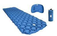 Inflatable Camping Pad and Pillow- Ultralight - Perfect for Camping, Backpacking