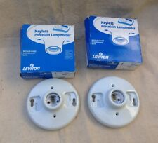 2 Leviton 9875 Keyless Porcelain Lampholders, Medium Base (660W, 250Vac)