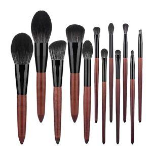 12pcs Soft Brown Makeup Brushes Set Foundation Powder Blush Eyeshadow Brush