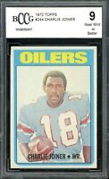 1972 Topps #244 Charlie Joiner Rookie Card BGS BCCG 9 Near Mint+