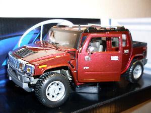 2001 Hummer H2 Sut Concept, Maisto Modèle Auto 1:24