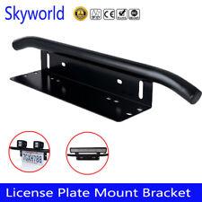 23'' Bull Bar Front Bumper License Number Plate Mount Bracket LED Light Holder