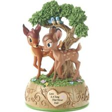 ♫ New PRECIOUS MOMENTS DISNEY Musical Figurine BAMBI Love Is A Song MUSIC BOX