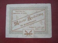 b/ Originalkarton für Sehr Edles Puppenstuben Zubehör  JB um ca.1900  RARITÄT