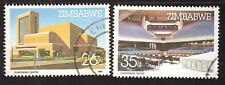 ZIMBABWE 1986 HARARE CONFERENCE CENTRE Sc#523/4 COMPLETE USED SET 1614