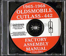 Olds 442 Cutlass and F85 Factory Assembly Manual CD 1965-1966-1967 Oldsmobile