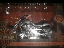 HARLEY 100TH 100 ANNIVERSARY V-RODS DIECAST MODEL 2003 1:10 & 1:18 SOLID SILVER