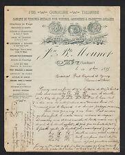 """APT (84) MATERIEL AGRICOLE TAILLANDERIE & QUINCAILLERIE """"J.B. MOUNET""""  en 1895"""