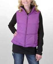 Zip Up Vest Women's Size Large Adiktd Jeans Purple Lined Pockets Western EUC