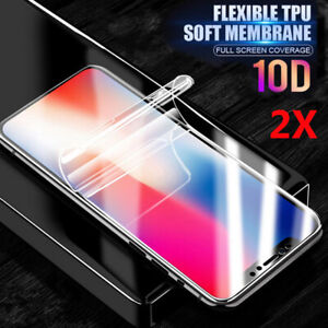 2X Hydrogel Film Full Coverage Screen Protector For Phone Samsung iPhone Huawei