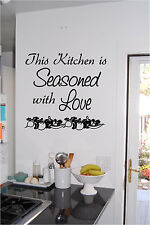 This Kitchen Is Seasoned With Love Wall Sticker Wall Art Kitchen Decor Sign