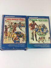 Intellivision NBA Basketball & NASL Soccer by Mattel Electronics