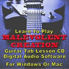 MALEVOLENT CREATION Guitar Tab Lesson CD Software - 12 Songs