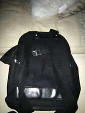 Brooks Canvas Back Pack Made In Italy Used Black