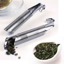 Stainless Steel Mesh Stick Pipe Steeper Strainer Hanging Tea Infuser W/Hook New