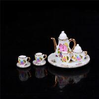 1:12 Mini Porcelain Tea Set For Miniature Dollhouse Accessory Home Decor DIY、 FE
