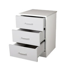Priceworth Redfern Bedside Table/Chest - White,3 drawers, Fast Delivery