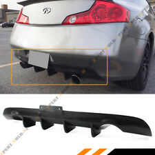 FITS 2003-2007 INFINITI G35 2DR COUPE BLACK SHARK FIN REAR LOWER BUMPER DIFFUSER