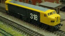 Locomotora diésel de escala H0 azules para modelismo ferroviario
