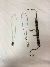 Vintage Native American Beaded Jewelry Lot, necklaces ,Sterling Pendant ,Choker
