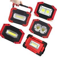 COB Led USB Rechargeable Flashlight Solar power Torch Protable floodlight light