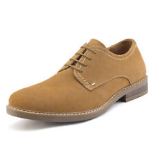 Men's Suede Leather Dress Oxfords Shoes  Casual Lace Up Wing Tip US Sneakers